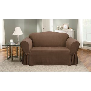 Soft Suede Loveseat Slipcover by Sure Fit
