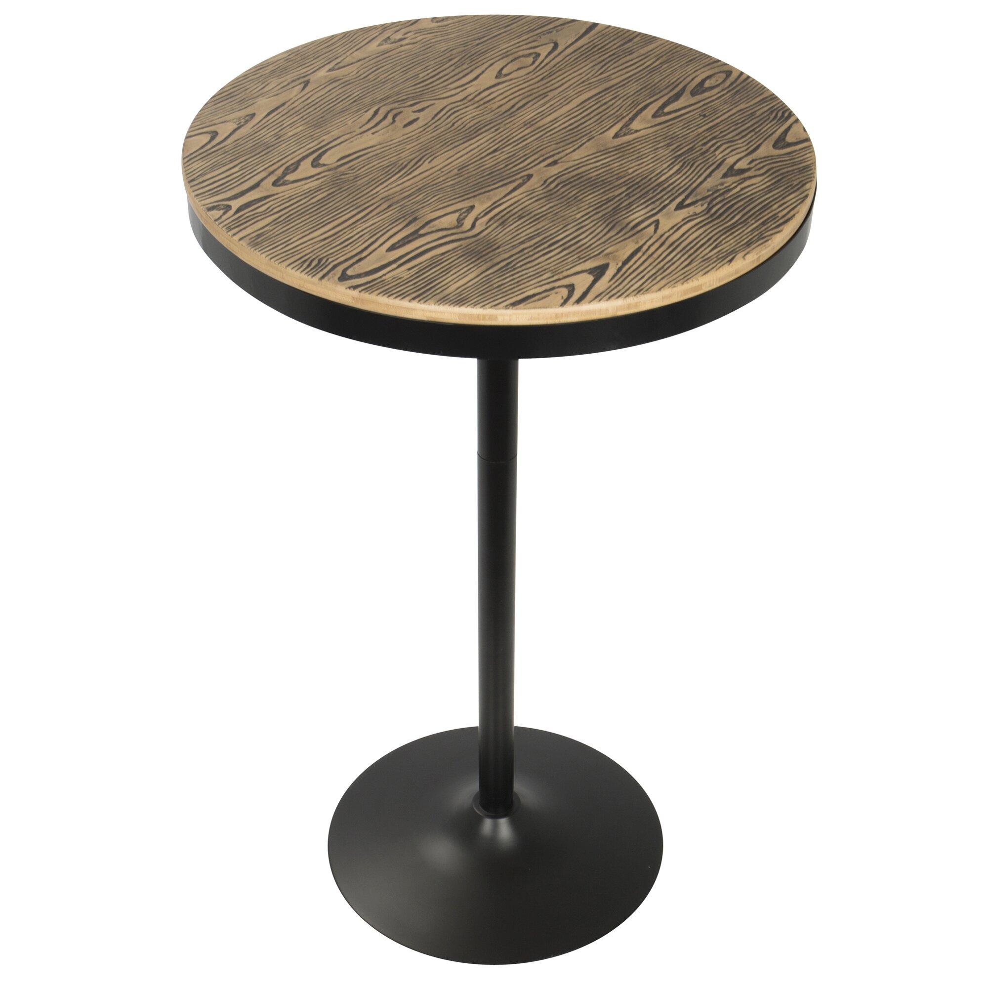 latitude run baer  piece adjustable pub table set  wayfair supply - baer  piece adjustable pub table set