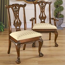 Cupid's Bow Chippendale 6 Piece Side Chair Set by Design Toscano