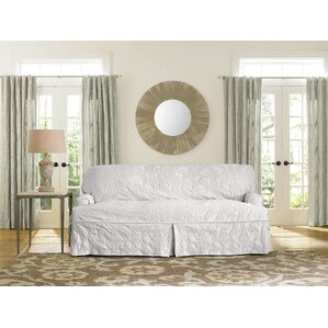 Matelasse Damask Sofa Slipcover