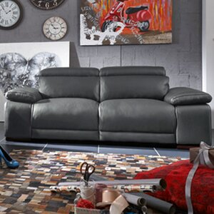 Strafford Electric Motion Genuine Leather Loveseat by Latitude Run