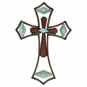 Southwest Metal Cross Wall Decor