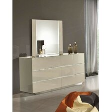 Jabari 6 Drawer Dresser with Mirror by Wade Logan