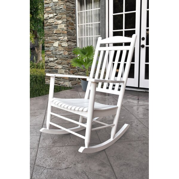 Beachcrest Home Palmyra Porch Rocker Chair U0026 Reviews | Wayfair