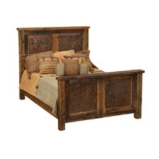 Barnwood Copper Inset Panel Bed by Fireside Lodge