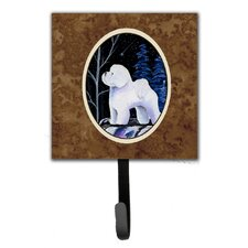 Starry Night Bichon Frise Leash Holder and Wall Hook by Caroline's Treasures