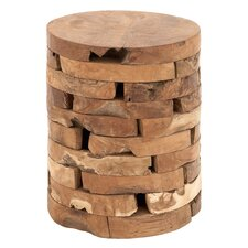 Teak Wood Accent Stool by Cole & Grey