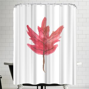 Jetty Printables Watercolor Autumn Leaf Shower Curtain East Urban Home