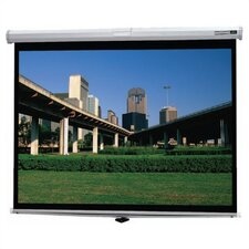 Deluxe Model B Matte White Manual Projection Screen by Da-Lite