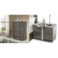 Yandel 3 Drawer Lingerie Chest with 2 Nightstands by Wade Logan
