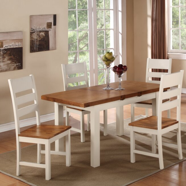 Homestead Living Fertos Extendable Dining Set with 4 Chairs