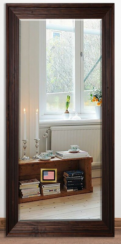 Beveled Wall Mirror loon peak barnwood beveled wall mirror & reviews | wayfair