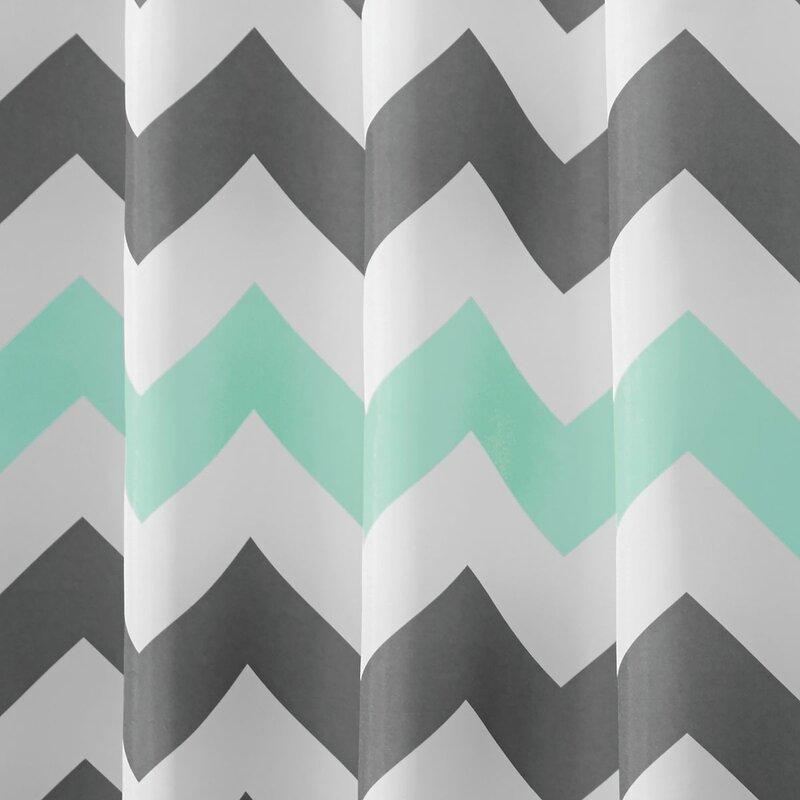 InterDesign Chevron Shower Curtain & Reviews | Wayfair
