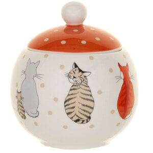 Cats in Waiting Sugar Bowl with Lid
