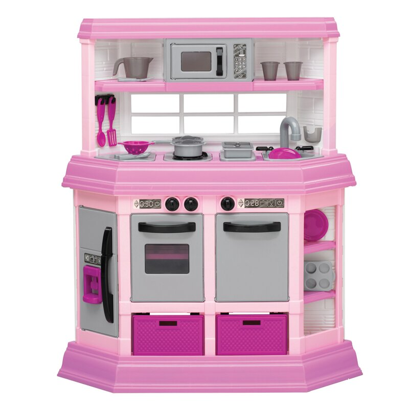 american plastic toys 22 piece cook and play kitchen set & reviews
