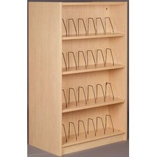 Library Starter Double Face Shelf 61 Standard Bookcase by Stevens ID Systems
