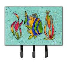 Tropical Fish Leash Holder and Key Hook by Caroline's Treasures
