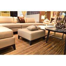Lazio Leather Ottoman by Argo Furniture