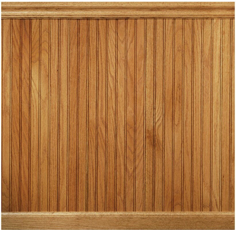 "manor house 96"" solid wood wall paneling in red oak & reviews"