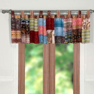 bohemian dream patchwork curtain valance