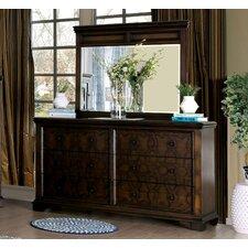 Hepscott 6 Drawer Dresser with Mirror by Astoria Grand