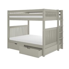 Full Over Full Bunk Bed with Drawers by Camaflexi