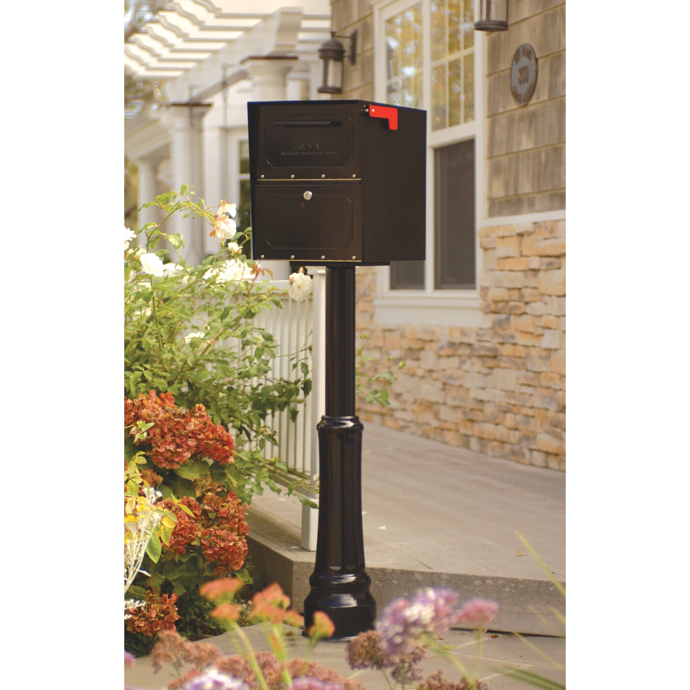 Architectural Mailboxes Oasis Locking Post Mounted Mailbox ...