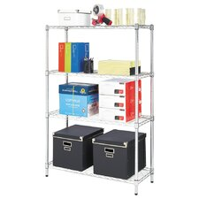 Residential Wire Shelving 54 Four Shelf Shelving Unit by Alera