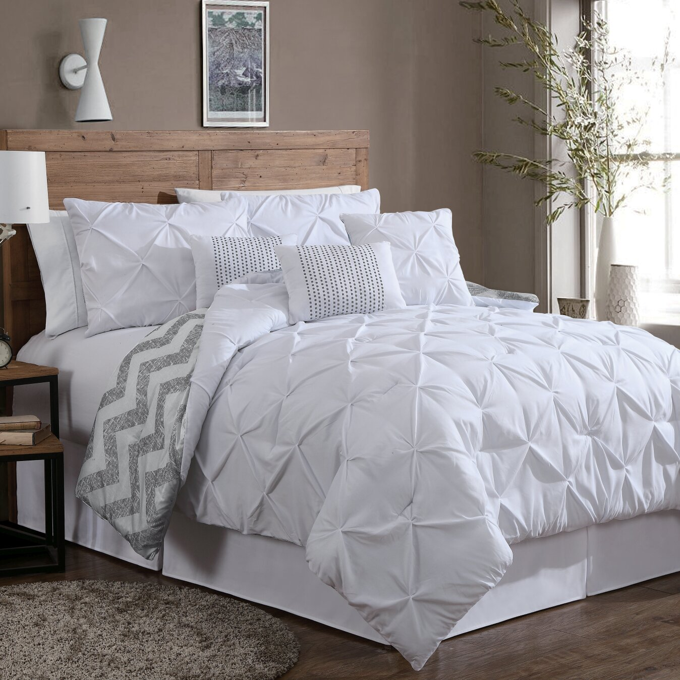 mcpherson 7 piece reversible comforter set u0026 reviews allmodern