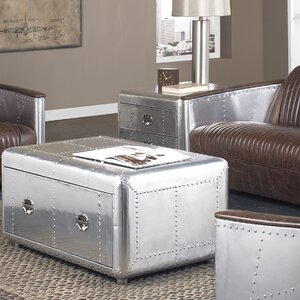 Lindbergh Bomber Coffee Table Set by Lazzaro Leather