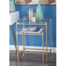 Metal/Acrylic 2 Piece Nesting Tables by Cole & Grey