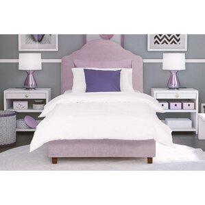 annie twin upholstered platform bed - Velvet Bed Frame
