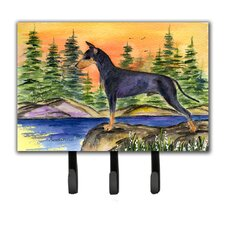 Manchester Terrier Leash Holder and Key Hook by Caroline's Treasures