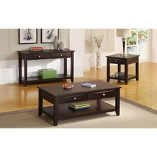 Nadine 3 Piece Coffee Table Set by A&J Homes Studio