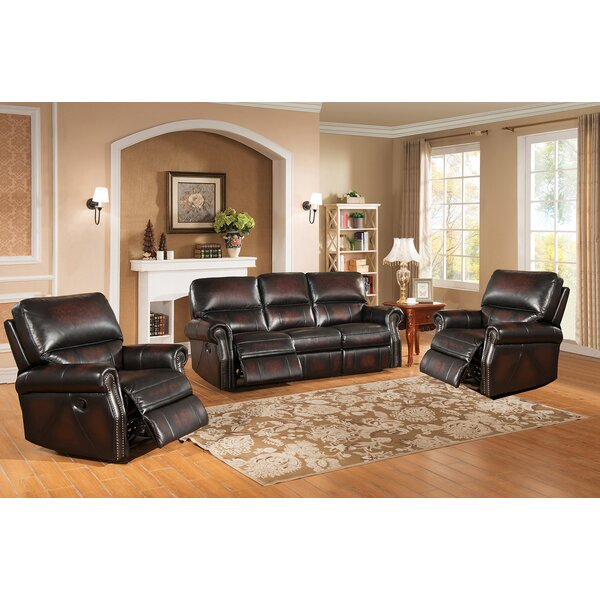 Amax Nevada 3 Piece Leather Living Room Set & Reviews | Wayfair