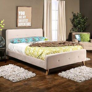 mica upholstered platform bed - Mid Century Modern Bed Frame