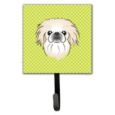 Checkerboard Pekingese Leash Holder and Wall Hook by Caroline's Treasures