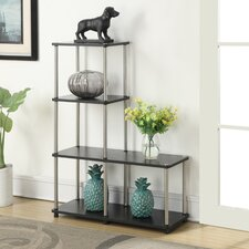 Georgette Multi L Shaped 41 Accent Shelves Bookcase by Zipcode Design