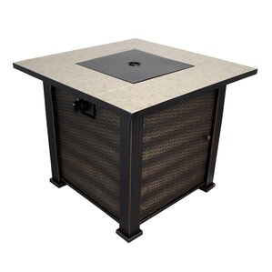 Captivating New Haven Porcelain Steel Propane Fire Pit Table
