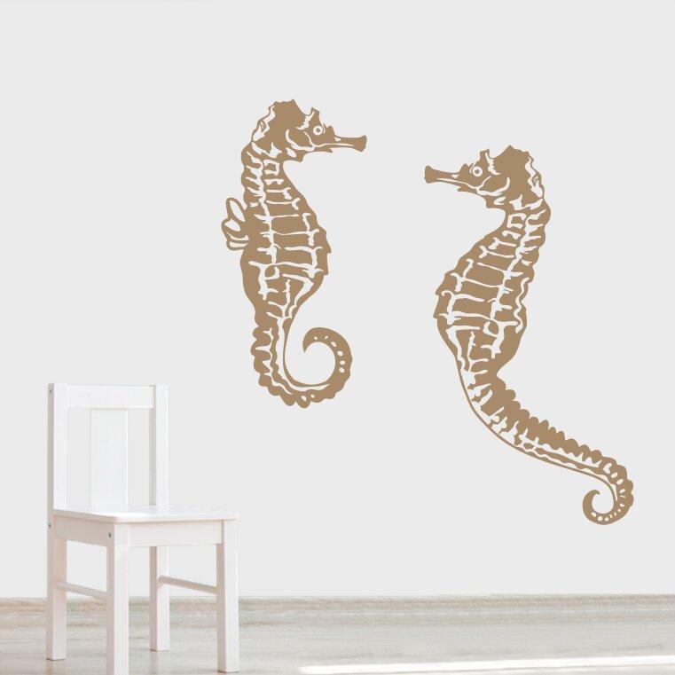 Seahorse Wall Decor wallums wall decor seahorse wall decal & reviews | wayfair