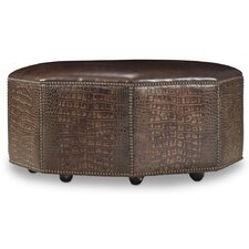 Octavius Cocktail Leather Ottoman by Bradington-Young