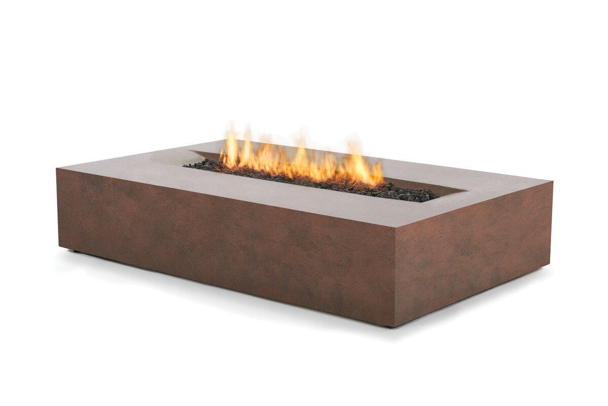 bjfs flo concrete bioethanol fuel fire pit table  wayfair - defaultname