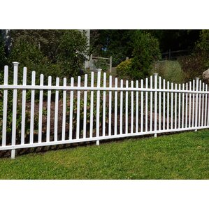 3.5u0027 X 7.7u0027 Manchester Semi Permanent Vinyl Picket Fence Kit ...