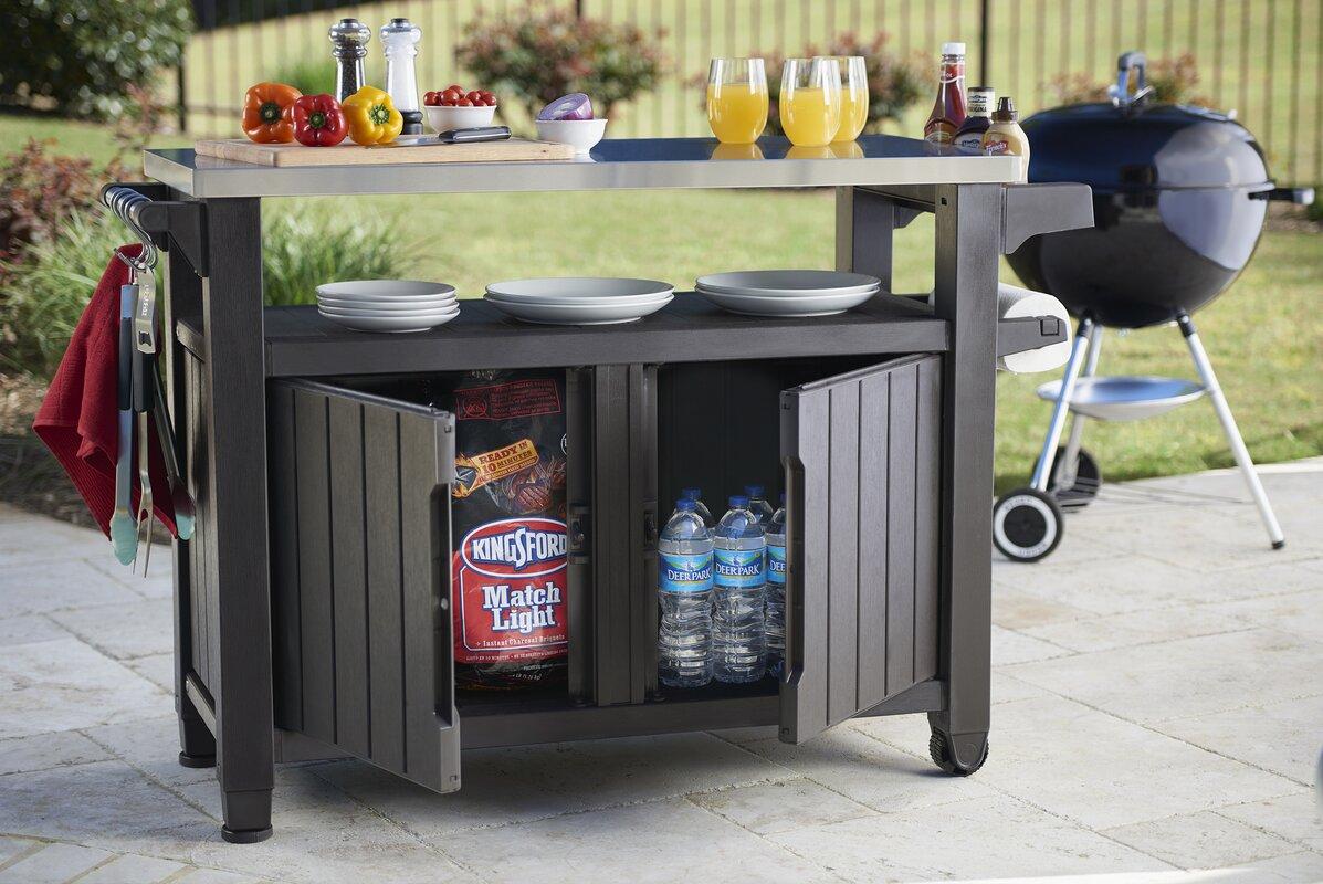 Cambron Caster Bar Serving Cart