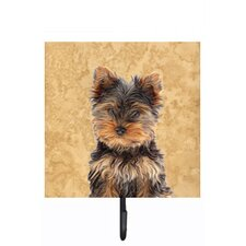 Yorkie Puppy/Yorkshire Terrier Leash Holder and Wall Hook by Caroline's Treasures