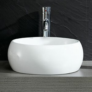 Modern Vitreous Circular Vessel Bathroom Sink Fine Fixtures
