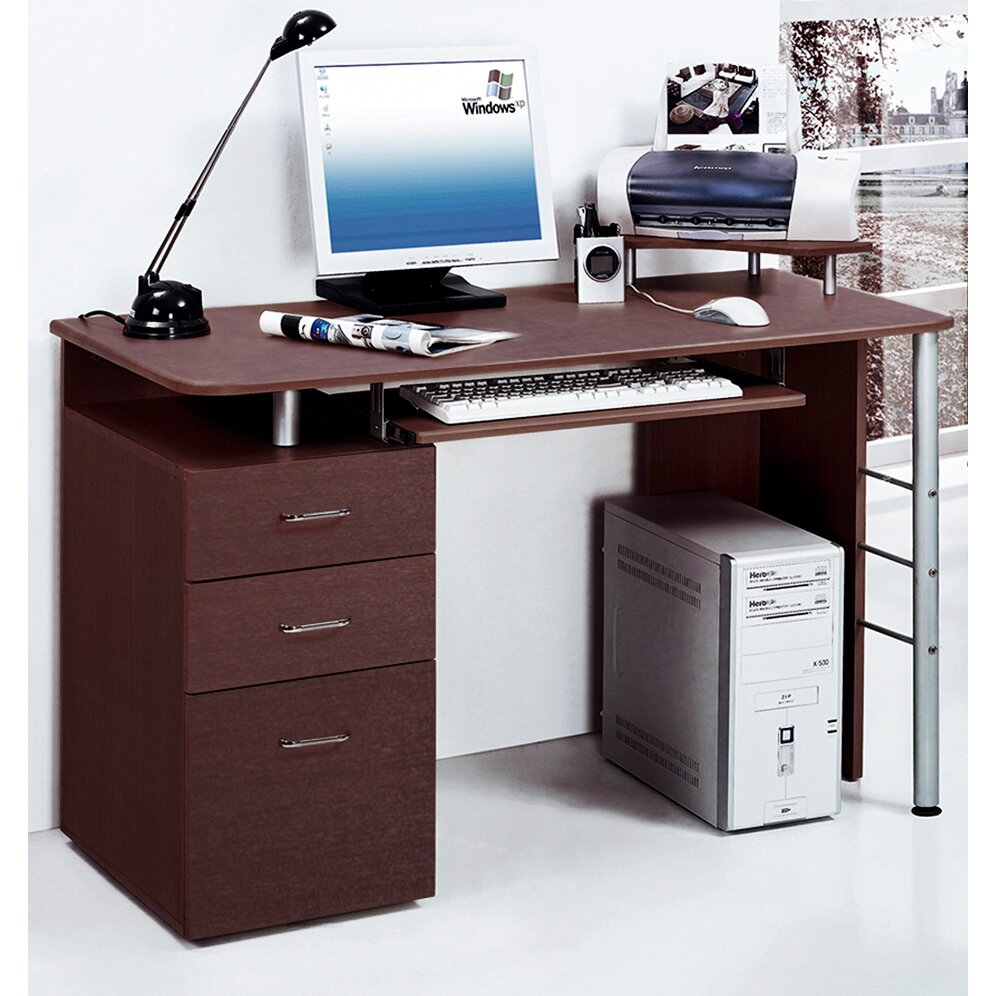 Merax Computer Desk With 3 Drawers Amp Reviews Wayfair Ca
