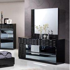 Manhattan 6 Drawer Dresser with Mirror by Global Furniture USA