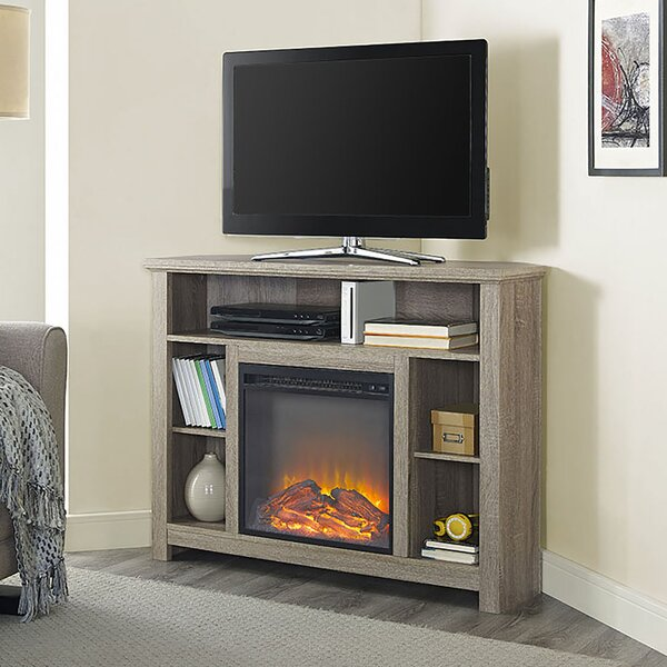 Darby Home Co Senecaville Corner 44 TV Stand with Fireplace