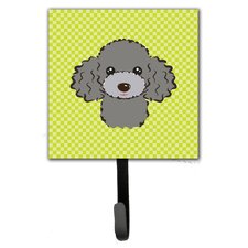 Checkerboard Poodle Leash Holder and Wall Hook by Caroline's Treasures